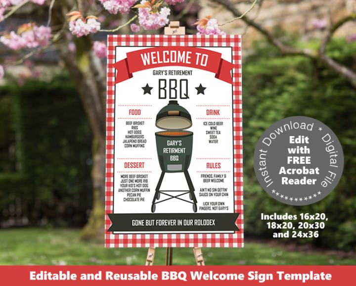Backyard BBQ Welcome Sign