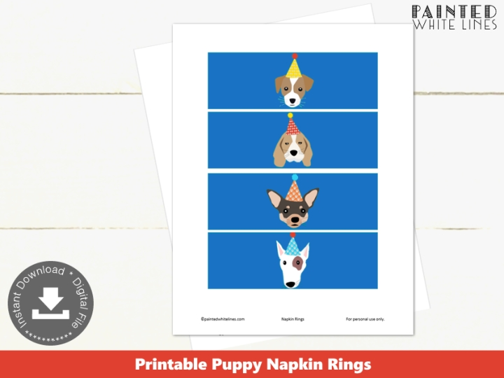 Puppy Party Napkin Rings