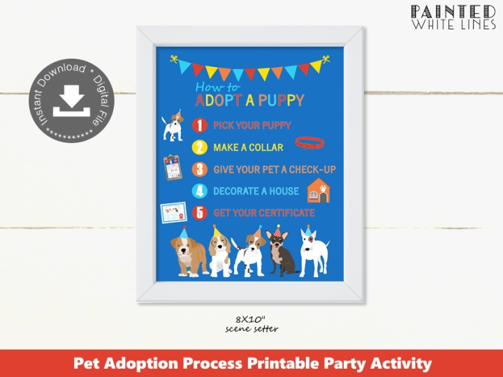 Puppy Adoption Process Sign Printable