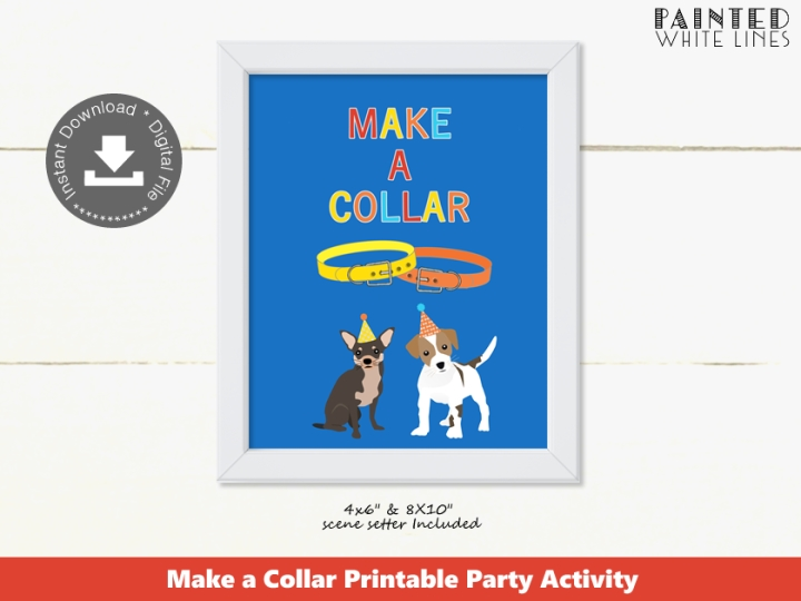 Make a Collar Puppy Party Activity Sign