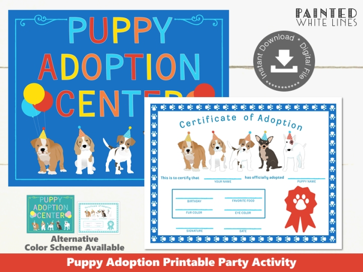 Printable Puppy Adoption Party Activity