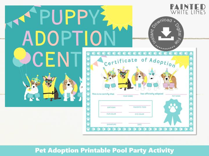 Doggy Paddle Pool Party Adopt a Puppy Activity