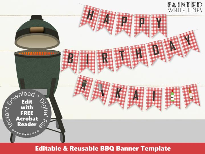Printable Backyard BBQ Banner
