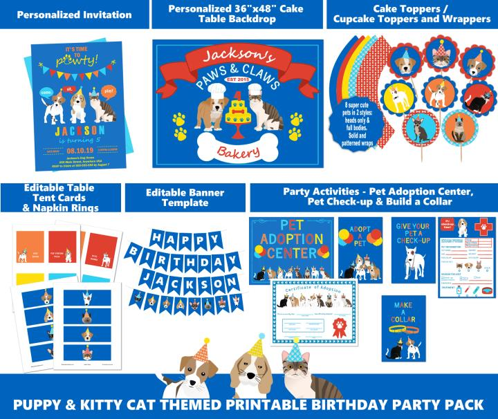 Boys Puppy Dog and Kitty Cat Party Supplies