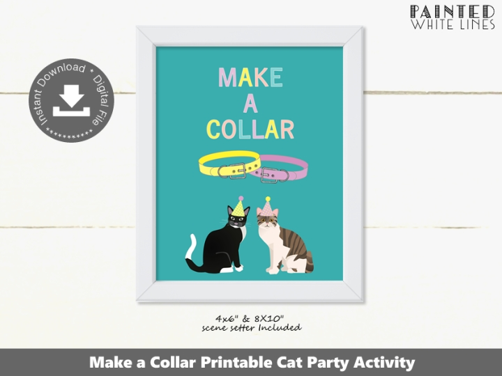 Make a Collar Cat Party Activity Sign
