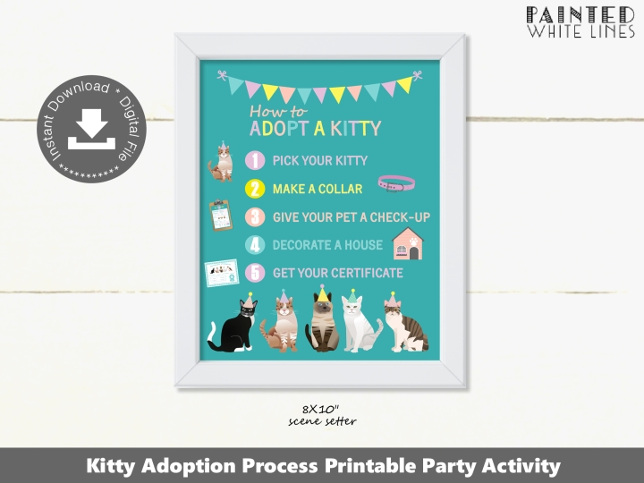Kitty Cat Adoption Process Sign Printable