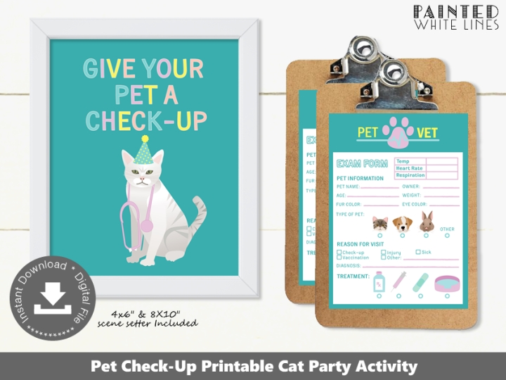 Cat Check-Up Party Activity
