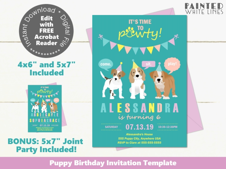 Printable Dog Invitation Template