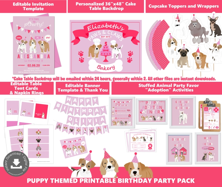 Girls Puppy Party Supplies