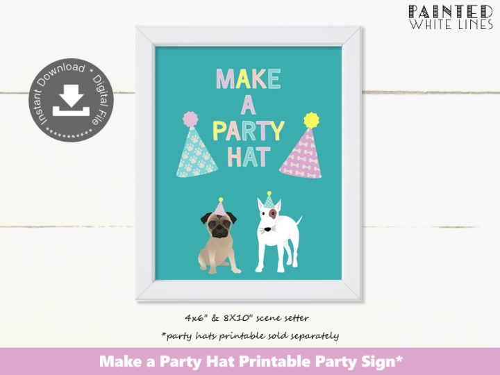 Make a Party Hat Party Activity Sign