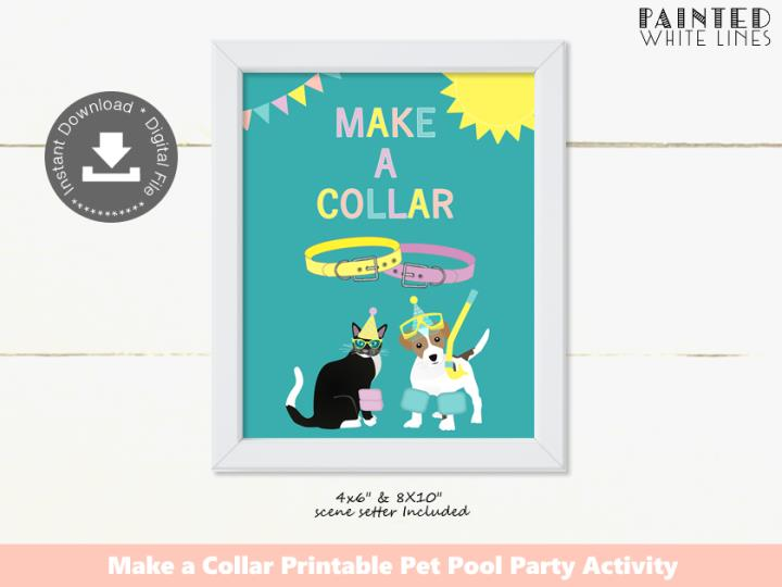 Pool Pawty Pool Party Make a Collar Activity