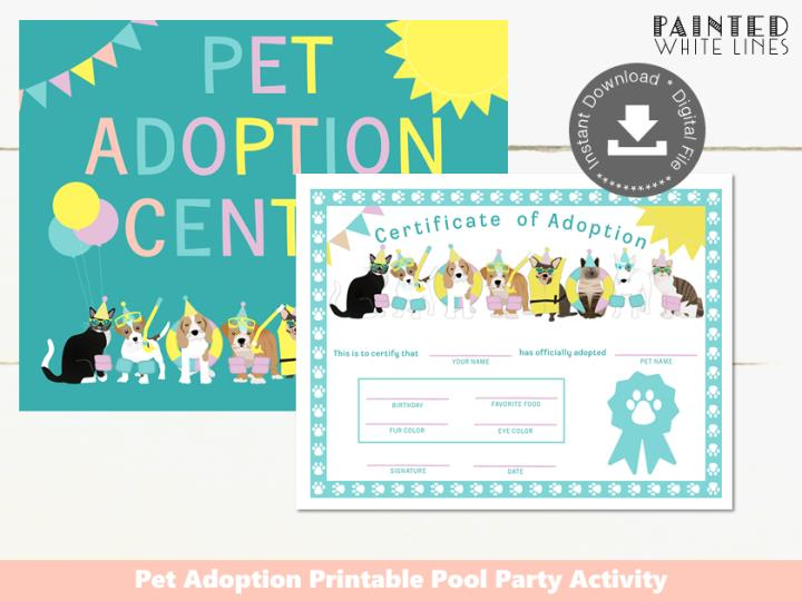 Pool Pawty Pool Party Adopt a Pet Activity