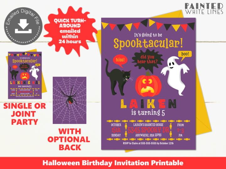 Spooktacular Kids Halloween Party Invitation