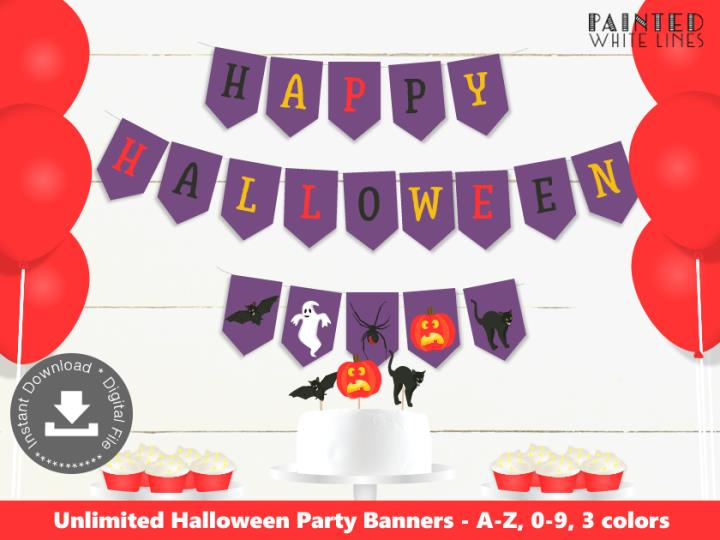 Spooktacular Kids Halloween Party Bunting Banner
