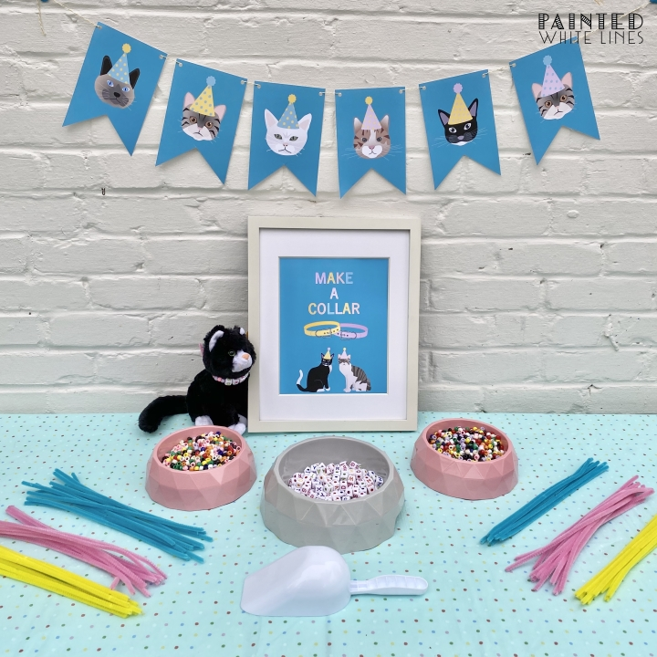 Kitty Cat Table Tent Cards Template