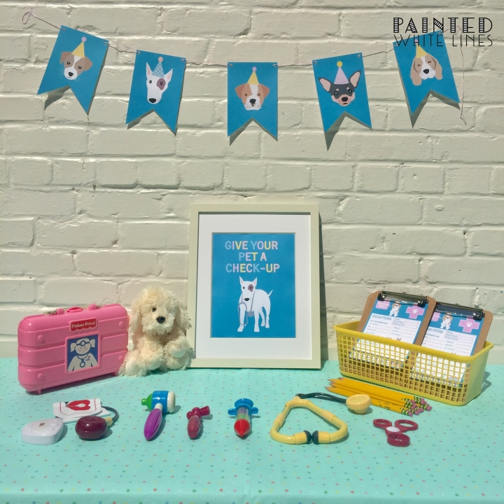 Puppy Party Table Tent Cards Template